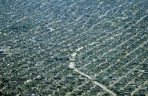 Aerial photo of Juarez Mexico