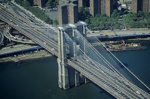 Airphoto Na Brooklyn Bridge Midtown Manhattan New York