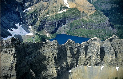 Airphoto  Aerial Picture of Glacier National Park Glacier County