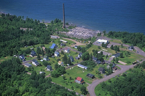 Aerial photo of Freda Mill, Houghton County, Michigan Upper Peninsula, MI  United States