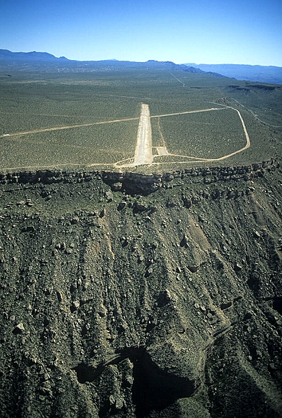 airphoto   aerial photograph of pearce ferry airstrip