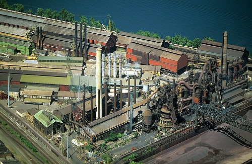 Steubenville (OH) United States  city photo : Aerial photo of Blast Furnaces, Steubenville, Ohio, OH United States