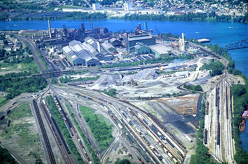 Steubenville (OH) United States  city photos gallery : Aerial photo of Steel Mill, Steubenville, Ohio, OH United States