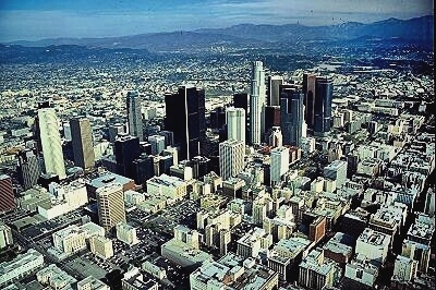 aerial photo of downtown los angeles los angeles california ca united states