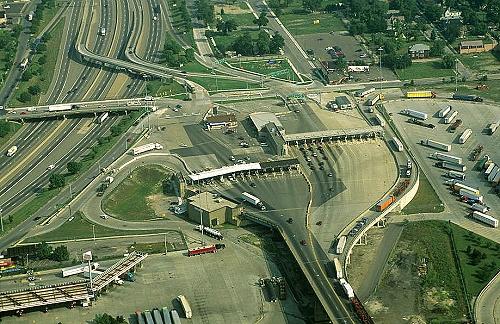 Aerial photo of port of entry detroit michigan mi united states