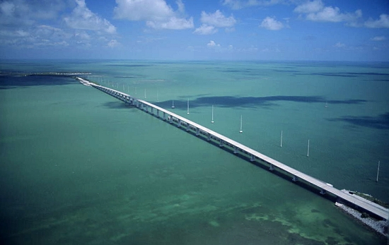 Aerial photo of Florida Keys Causeway, Long Key, Florida, FL  United States
