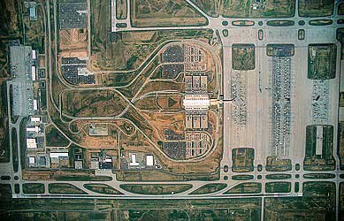 Aerial photo of Denver Airport, Adams County, Colorado, CO  United States