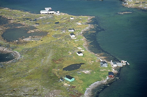 Aerial photo of Henley Harbor, Labrador, Newfoundland, NF  Canada