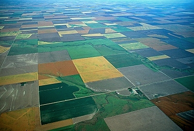 Aerial photo of Kansas Farms, Southwest Kansas, KS  United States