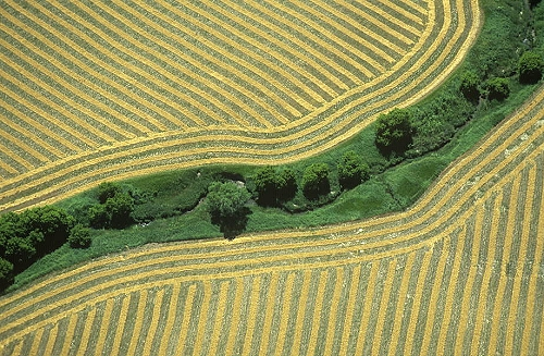 A Flight to Ellinwood, Kansas over The Great Harvest of 2013 by ...