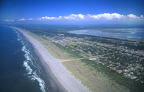 Airphoto - Aerial Picture of Beach at Ocean Shores, Grays