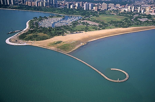 Airphoto Aerial Photograph Of Chicago Lakefront Chicago