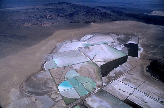 Lithium Mines In Nevada >> Airphoto Aerial Picture Of Lithium Evaporation Ponds