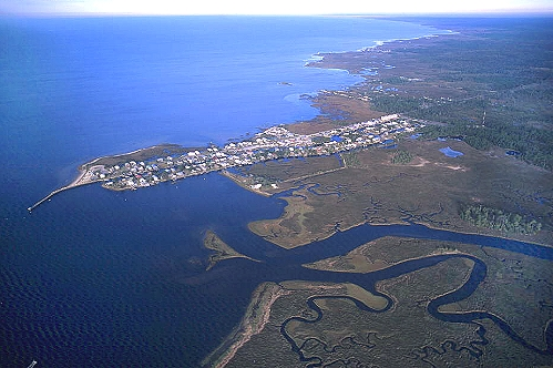 airphoto aerial photograph of fish creek northwest