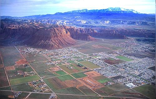 Washington (UT) United States  city images : Aerial photo of St. George, Washington County, Utah, UT United States