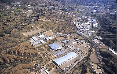 Aerial photo of Industrial Park, Santa Cruz County, Arizona, AZ  United States