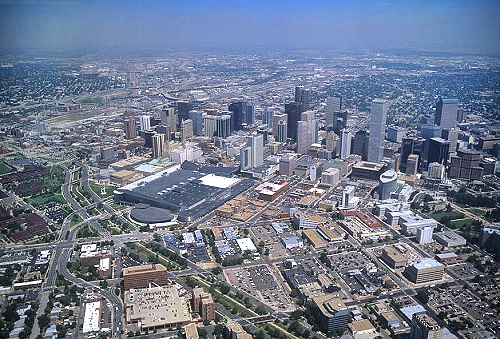 Airphoto - Aerial Photograph of Downtown Denver, City and ... - photo#26