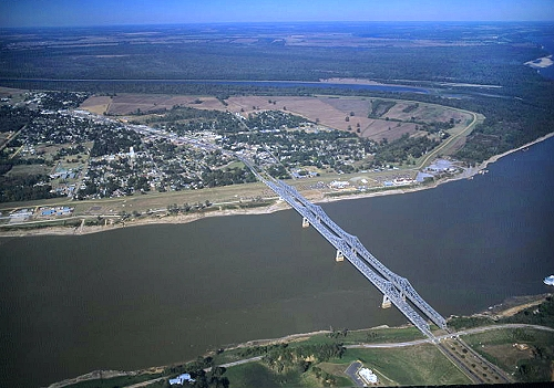 Aerial photo of Vidalia, Concordia Parish, Louisiana, LA  United States