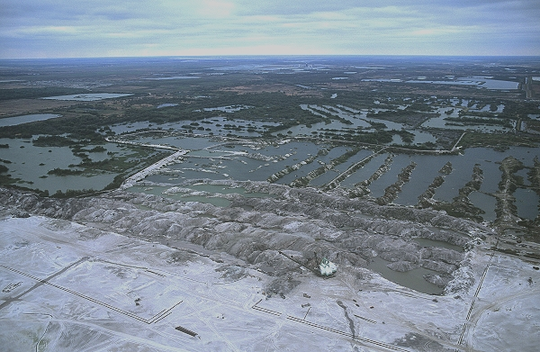 Aerial photo of Phosphate Strip Mining, Polk County, Florida, FL  United States