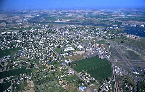 Burley (ID) United States  city images : Aerial photo of Burley, I 84, Burley, Idaho, ID United States