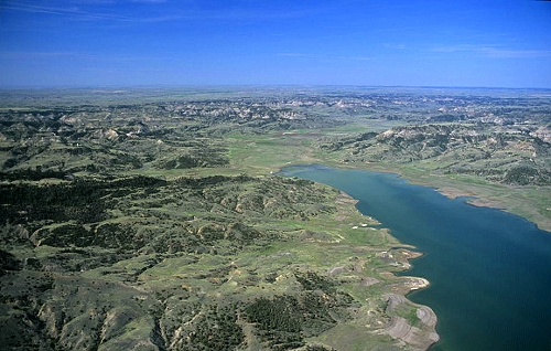 Airphoto aerial picture of sutherland creek bay upper missouri aerial photo of sutherland creek bay upper missouri river valley county montana publicscrutiny Gallery