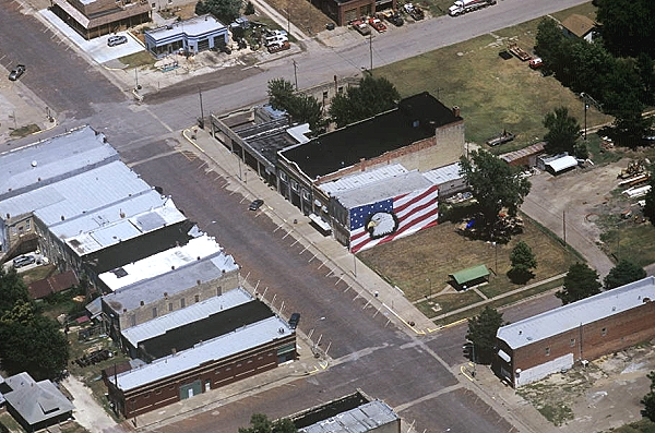 Aerial photo of Downtown Florence, US Hy 50, Marion County, Kansas, KS  United States