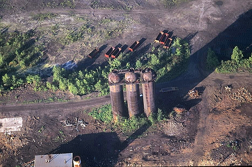 Aerial photo of Abandoned Steel Mill, I-80, Sharon, Pennsylvania, PA  United States