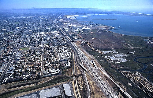 Airphoto aerial photograph of san diego freeway i 5 chula aerial photo of san diego freeway i 5 chula vista california sciox Gallery