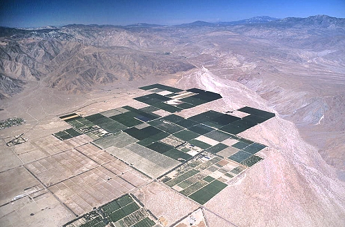 Airphoto - Aerial Photograph of Desert Farming, Riverside