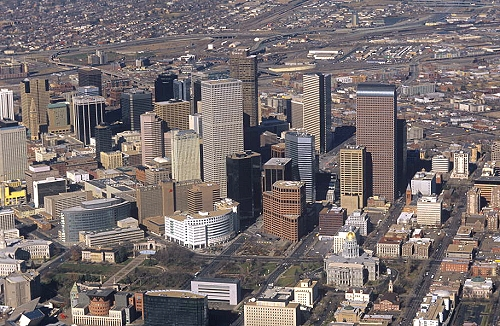 Airphoto - Aerial Photograph of Downtown Denver, City and ... - photo#34