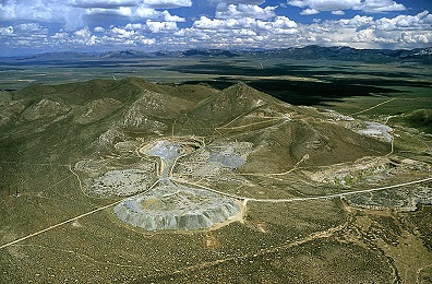 Aerial photo of Open Pit Mines, Beaver County, Utah, UT  United States