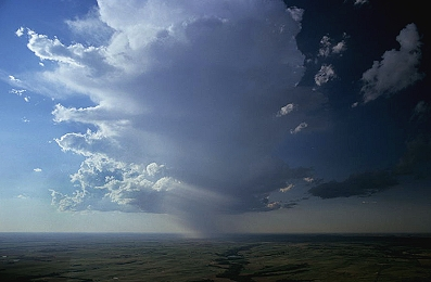 Aerial photo of Prairie Rain, Riley County, Kansas, KS  United States