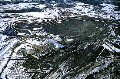 Aerial photo of Empire Iron Mine & Concentrator, Palmer, Michigan, MI  United States