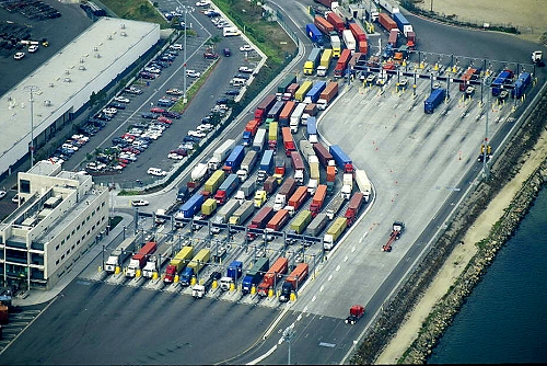 Terminal Island Truck Port courtesy of AirPhoto-Jim Ward