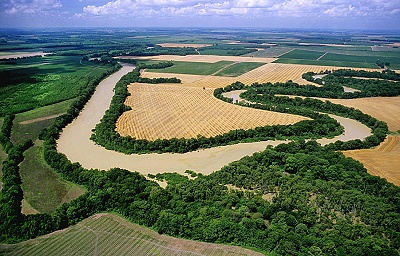 Aerial photo of Yazoo River, Humphreys County, Mississippi, MS  United States