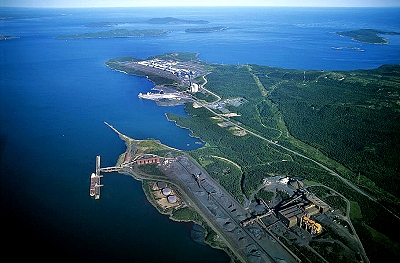 Aerial photo of Sept-Isle, St. Lawrence River, Quebec, PQ  Canada