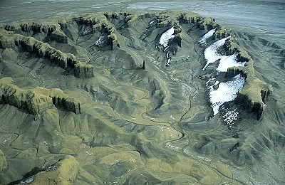 Airphoto - Aerial Photograph of Desert Landforms, Wayne County ...