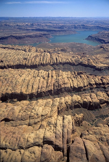 Aerial photo of Trachyte Point, Garfield County, Utah, UT  United States