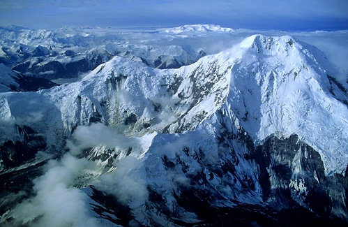 Aerial photo of Mount Natazhat, Wrangell-St. Elias National Park, Alaska, AK  United States