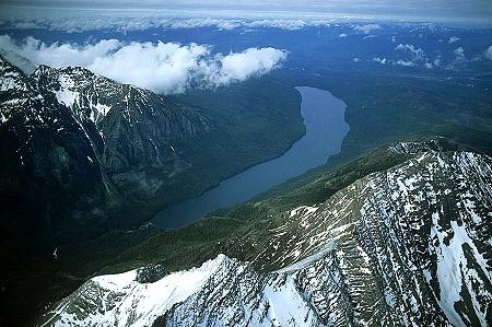 Airphoto  Aerial Picture of Kintla Lake  Flathead County
