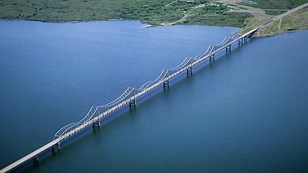 Airphoto Aerial Photo Of Highway 212 Bridge Potter