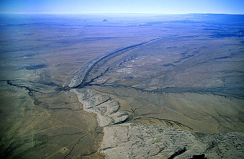 Aerial photo of Anticline, San Juan County, New Mexoco, NM  United States