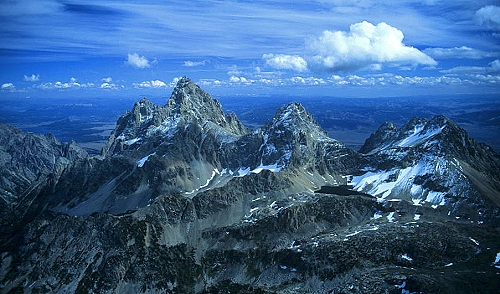 Aerial photo of Grand Teton Peak, Teton County, Wyoming, WY  United States