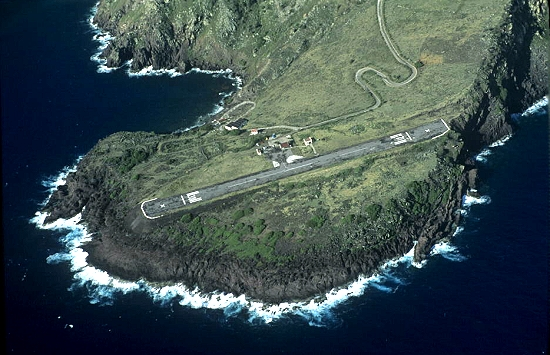 Aerial photo of Saba Airport  , Netherlands Antilles  Caribbean