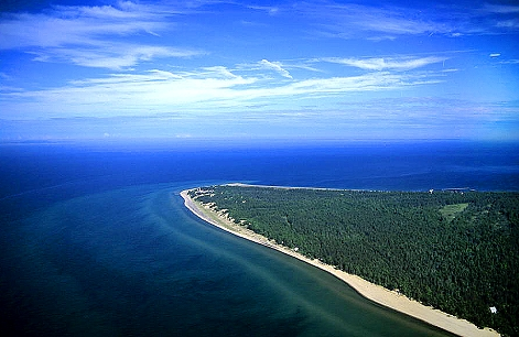 Airphoto aerial photo of whitefish point chippewa for White fish point