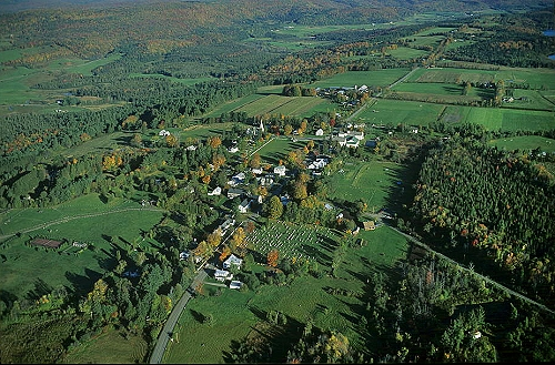 Airphoto Aerial Photograph Of Downtown Craftsbury