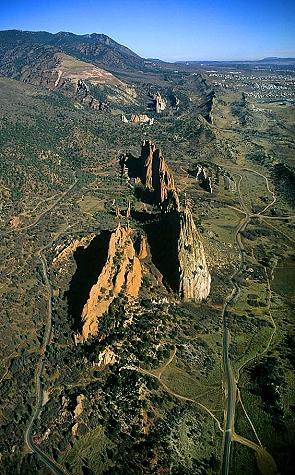 Airphoto Aerial Photo Of Garden Of The Gods El Paso County Colorado 15596