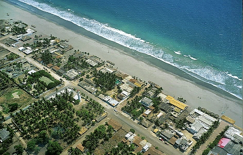 airphoto   aerial photograph of puerto arista state of