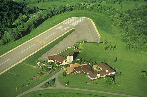 Airphoto Aerial Photograph Of Farm Airport Crawford