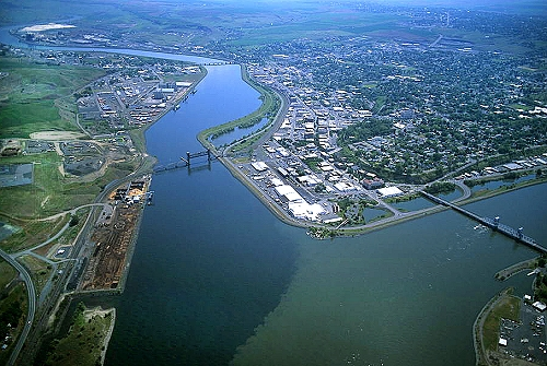 Lewiston (ID) United States  City pictures : Aerial photo of Lewiston, Nez Perce County, Idaho, ID United States